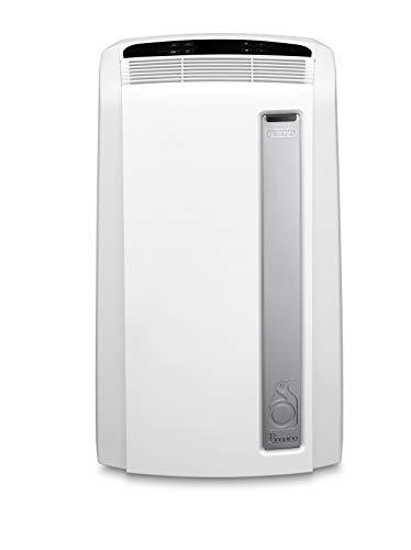 De'Longhi PAC AN112 Silent Mobiles Klimagerät (Klimaanlage, Luft-Luft System, Max. Kühlleistung 2,9 kW/11000BTU/h, Separate Entfeuchtungsfunktion,...