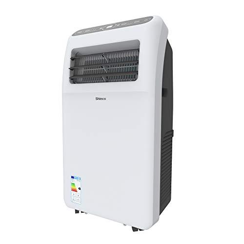 Shinco 3,5 kW Mobiles Klimagerät 12000 BTU Tragbare Klimaanlage, Kühlung und Entfeuchtung, Lüftermodus, LED-Anzeige, Fernbedienung, weiß, bis...