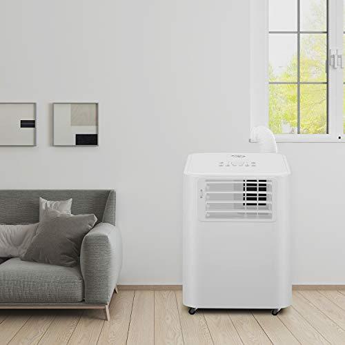 Famgizmo 4 in 1 mobiles Klimagerät - Aircooler, Ventilator, Luftentfeuchter & Schlafmodus Funktion,2.6KW, 5.000 Btu, 3 Ventilationsstufen, 24H Timer...