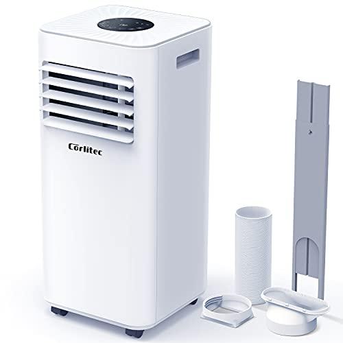 Corlitec Mobile Klimaanlage,9000 BTU 3-in-1-Tragbare Klimagerät, Luftentfeuchter,Kühlgebläse,mit Digitalanzeige&Fernbedienung,für Räume bis zu ca...