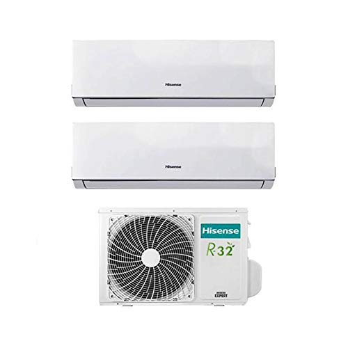 Inverter-Klimaanlage Hisense New Comfort Dual Split 9000+12000 9+12 BTU 2AMW50U4RRA R-32 A++ [Energieeffizienzklasse A++]