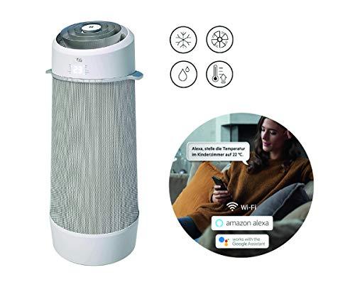 AEG PX71-265WT Eco mobiles Klimagerät / spiralförmiger Luftstrom / App-Steuerung / Spracherkennung / Fernbedienung / Fenster-Kit / Kühlen / Heizen...