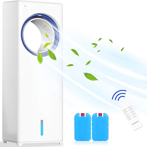 Mobile Klimaanlage 4 in 1 Aircooler | Luftkühler | Ventilator mit 8h Timer 3 Modi 3 Stufen Oszillierend Mobile Klimagerät Mit Fernbedienung Ohne...