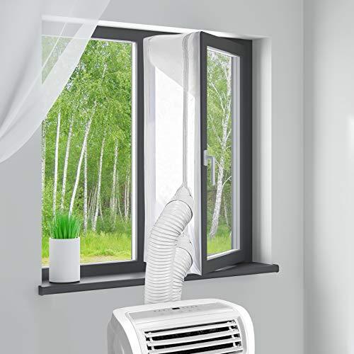 MYCARBON Fensterabdichtung für mobile Klimageräte 400cm ohne Bohren klimaanlage fensterabdichtung für Wäschetrockner Ablufttrockner AirLock zum...