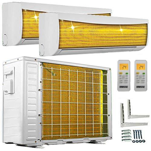 A++/A++ Duo-Split Golden-Fin 3,5 + 3,5 kW 12000+12000 BTU MultiSplit Klimaanlage INVERTER Klimagerät mit zwei Inneneinheiten 2 Innengeräten und...