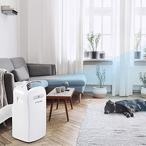 TROTEC Lokales mobiles Klimagerät Klimaanalge PAC 3500 mit 3,5 kW / 12.000 Btu, EEK A (Timer, 3 Ventilationsstufen, Luftentfeuchter-Funktion,...